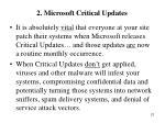 2 microsoft critical updates