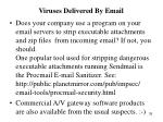 viruses delivered by email