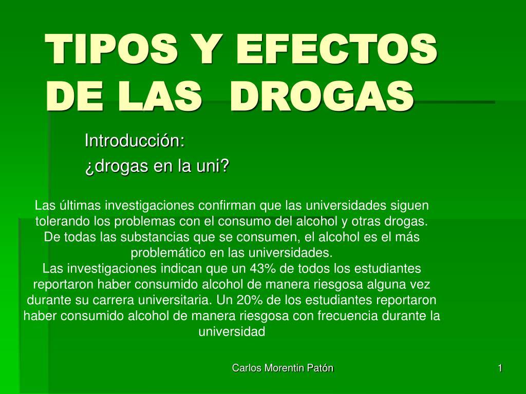 tipos y efectos de las drogas l.