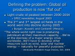 defining the problem global oil production is now flat out