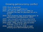 growing petrocurrency conflict