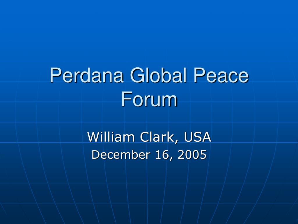 perdana global peace forum l.