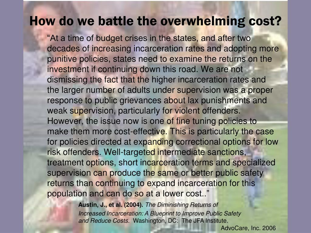 How do we battle the overwhelming cost?