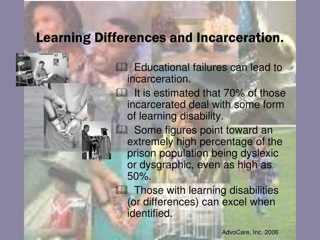 Learning Differences and Incarceration.