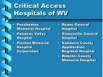 critical access hospitals of wv43