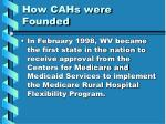 how cahs were founded