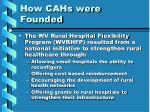 how cahs were founded13