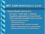 wv cah definition cont