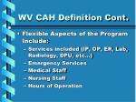 wv cah definition cont11