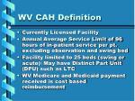 wv cah definition