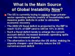what is the main source of global instability now