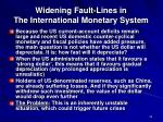 widening fault lines in the international monetary system30