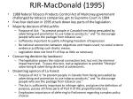 rjr macdonald 1995