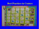best practices in centers