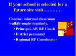 if your school is selected for a future site visit21