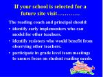 if your school is selected for a future site visit22