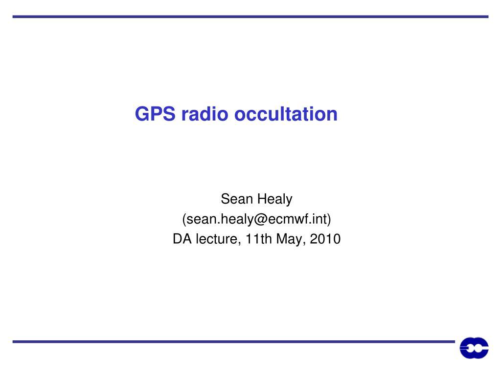 gps radio occultation l.