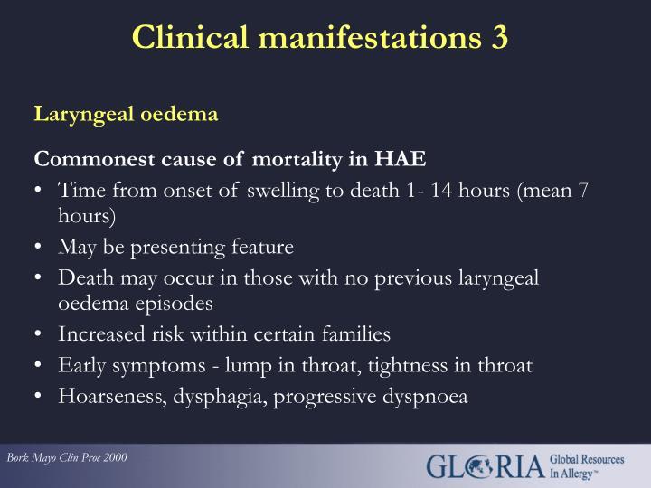 Laryngeal oedema