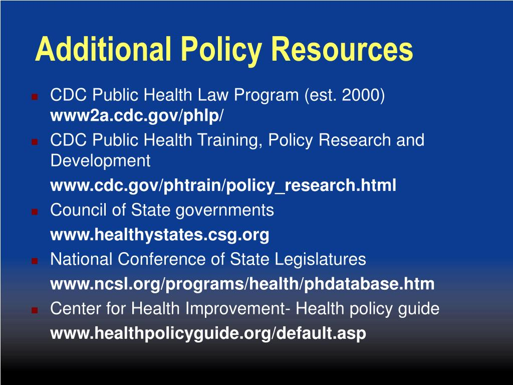 Additional Policy Resources