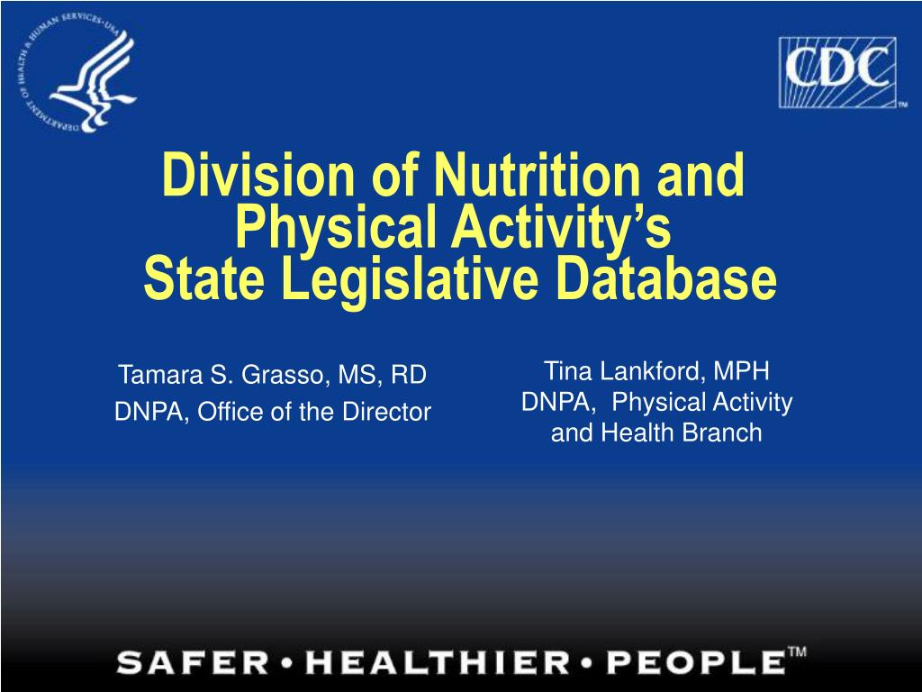 Division of Nutrition and Physical Activity's