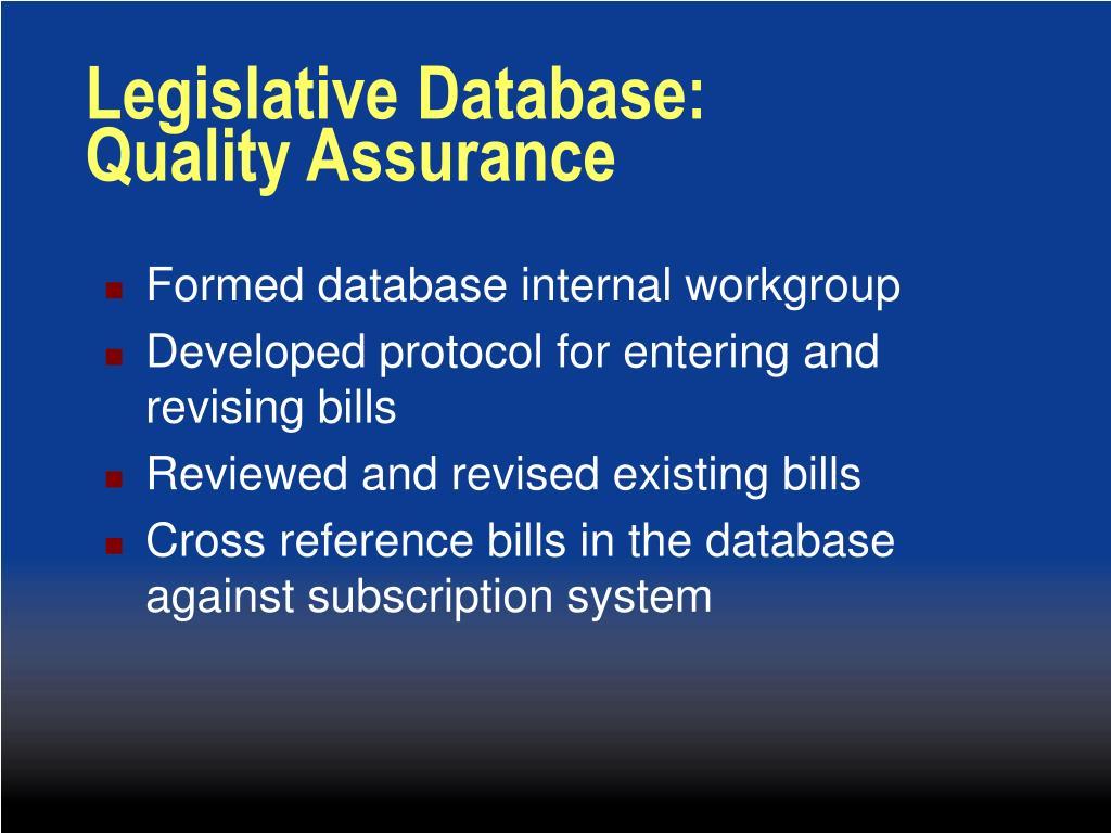 Legislative Database: