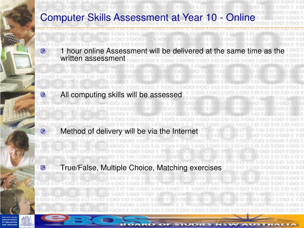 Computer Skills Assessment at Year 10 - Online