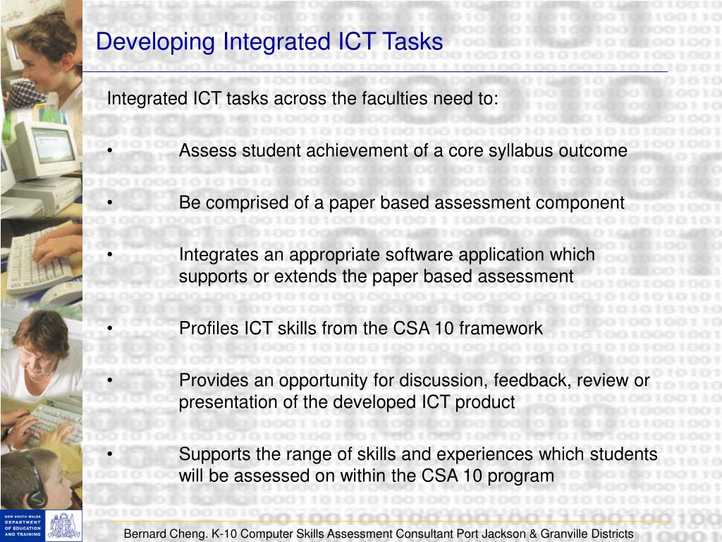 Developing Integrated ICT Tasks