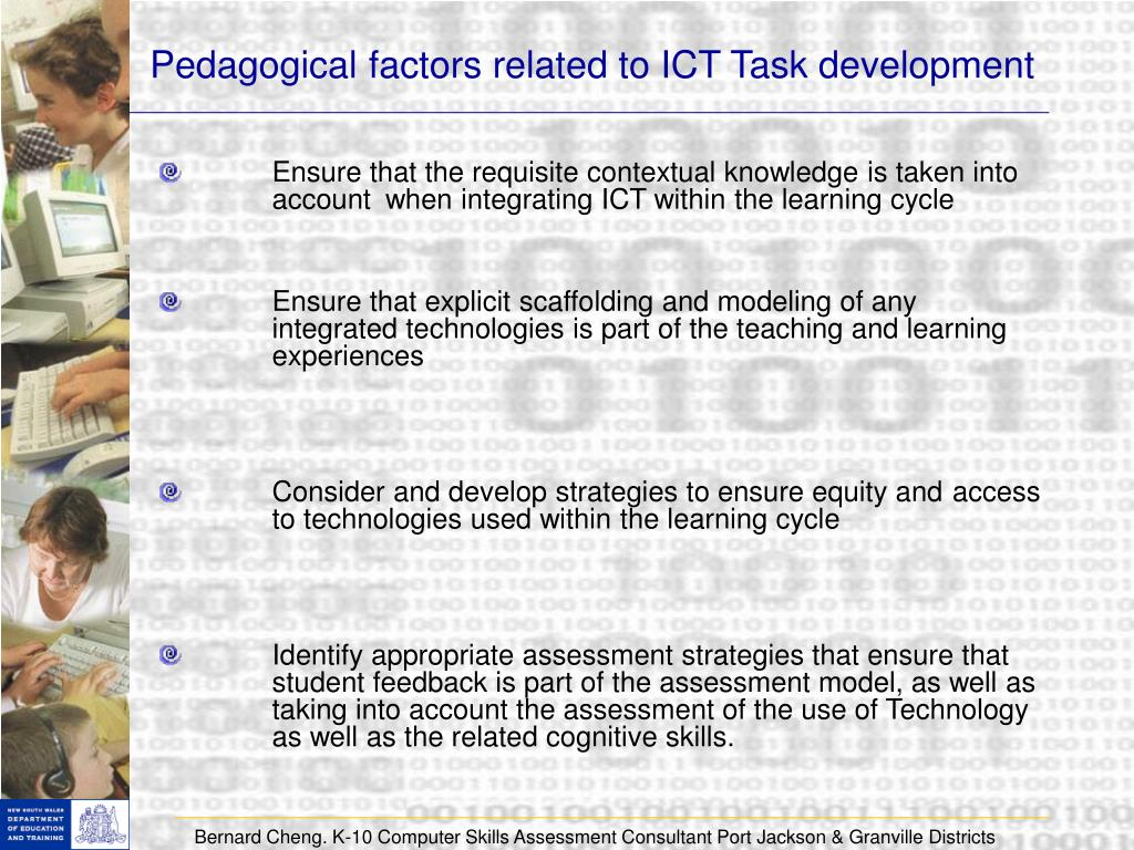 Pedagogical factors related to ICT Task development