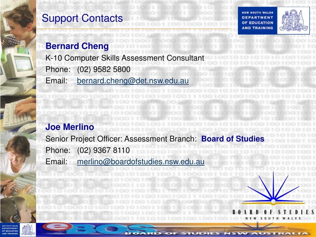 Support Contacts