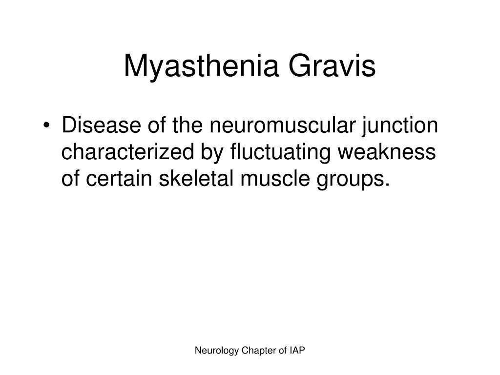 PPT - Myasthenia Gravis PowerPoint Presentation - ID:366511