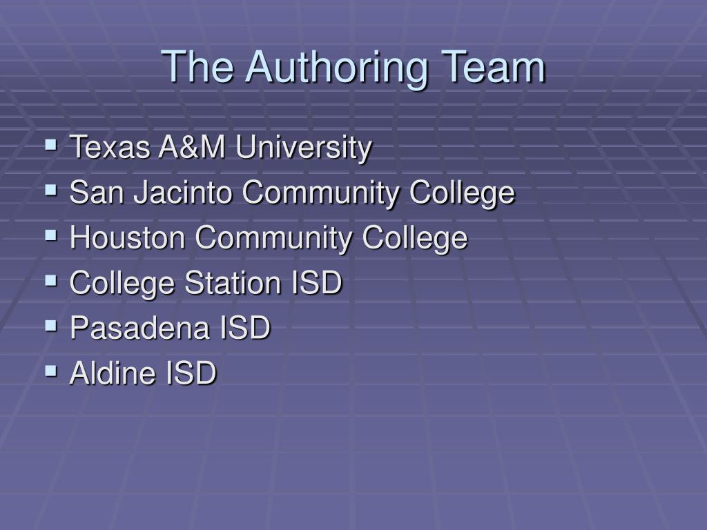The Authoring Team