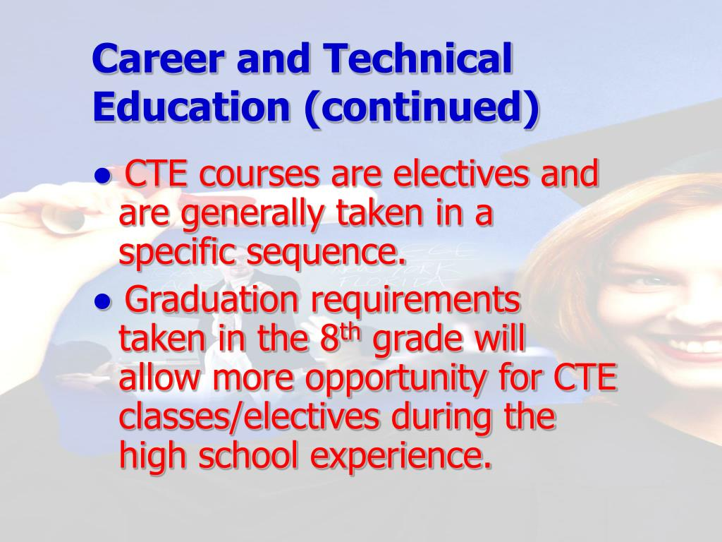 Career and Technical Education (continued)