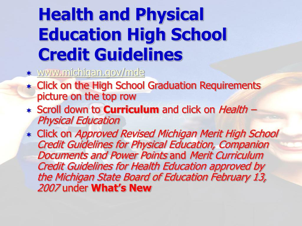 Health and Physical Education High School Credit Guidelines