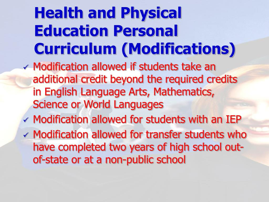 Health and Physical Education Personal Curriculum (Modifications)