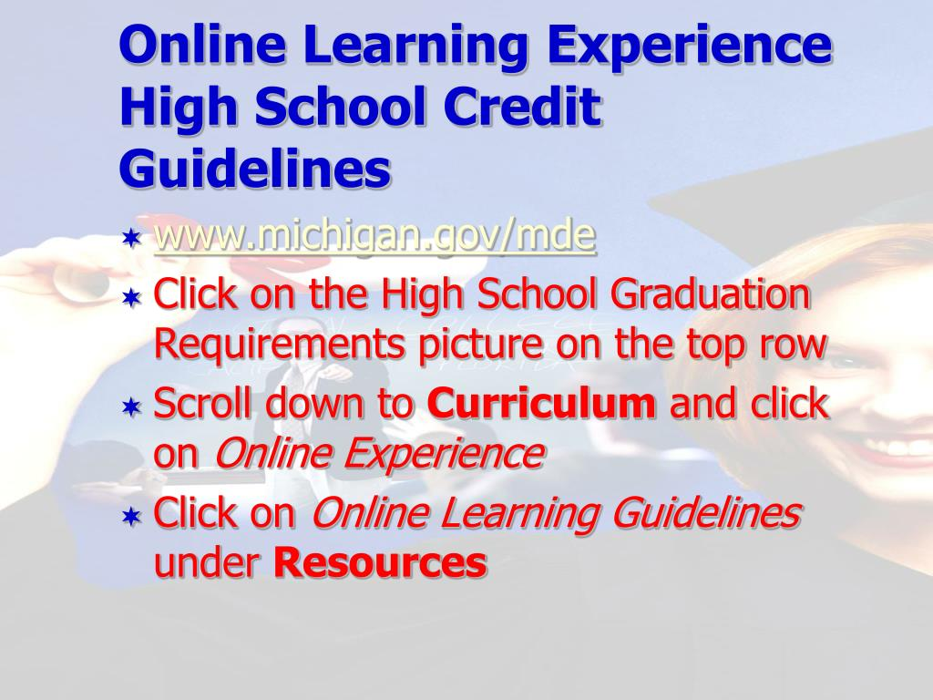 Online Learning Experience High School Credit Guidelines