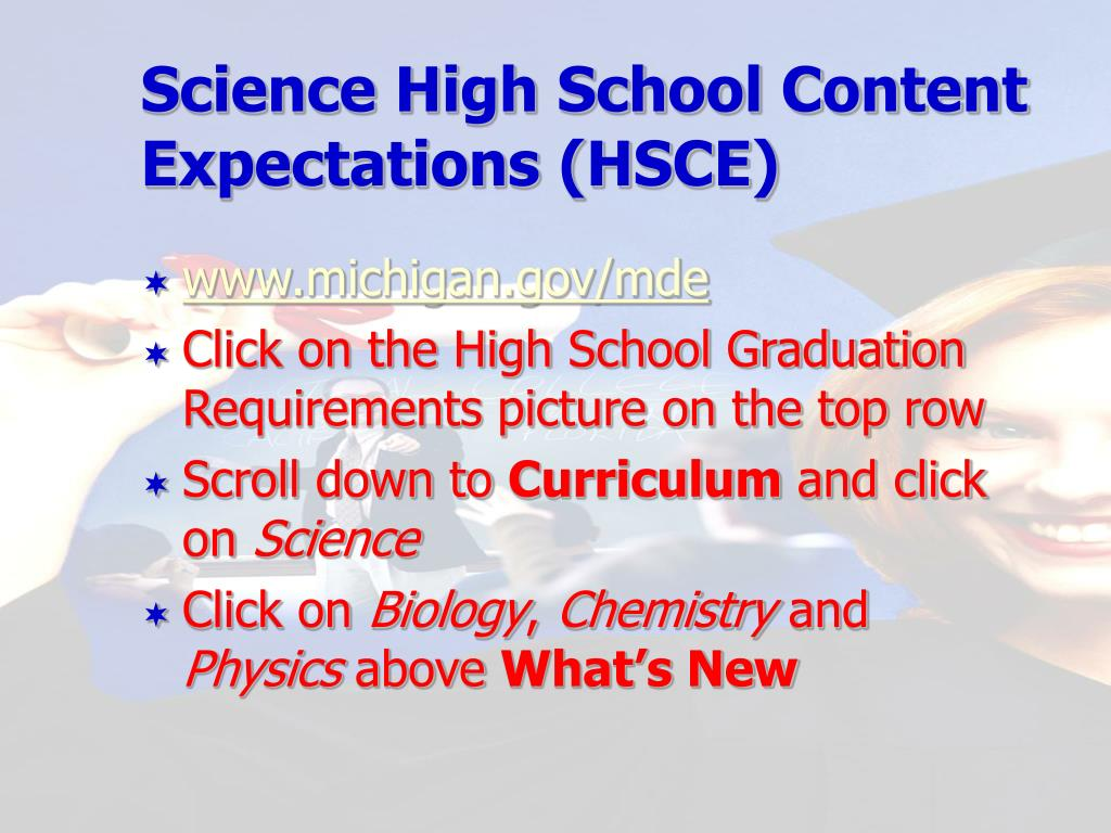 Science High School Content Expectations (HSCE)