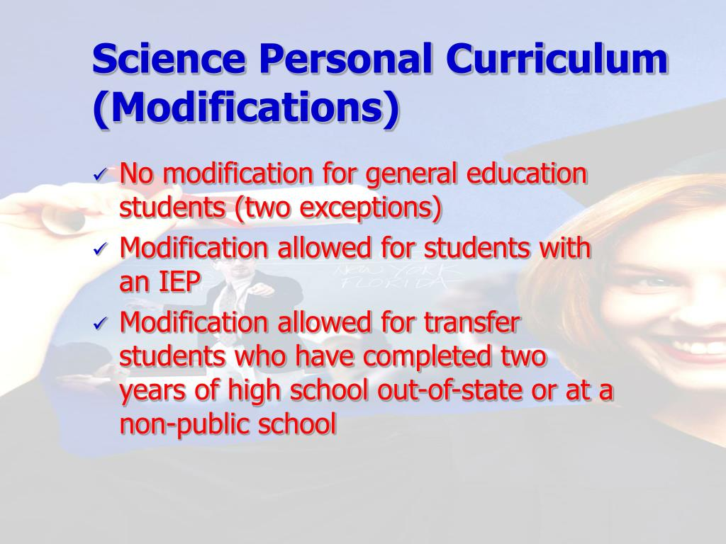 Science Personal Curriculum (Modifications)