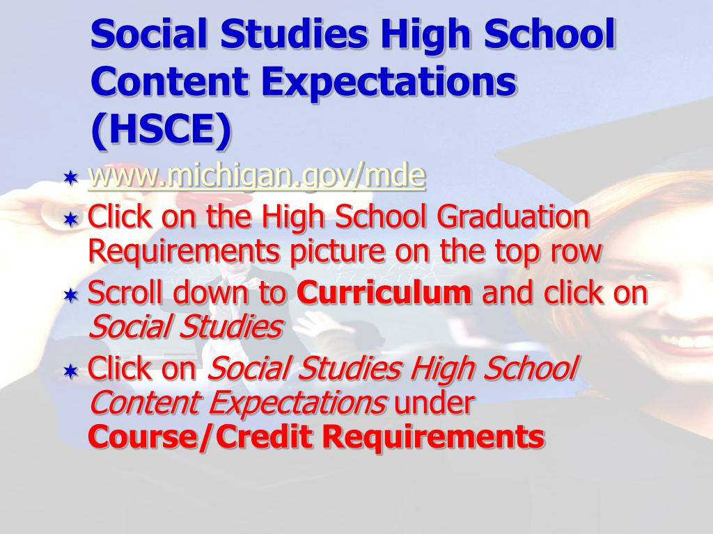 Social Studies High School Content Expectations (HSCE)