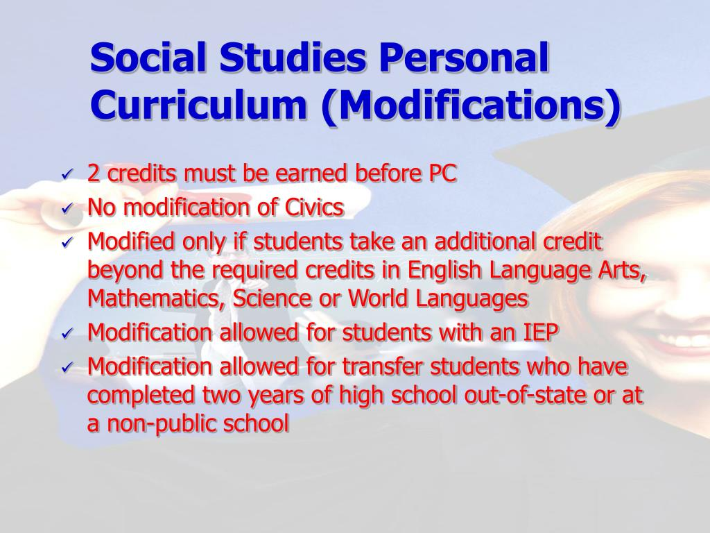 Social Studies Personal Curriculum (Modifications)