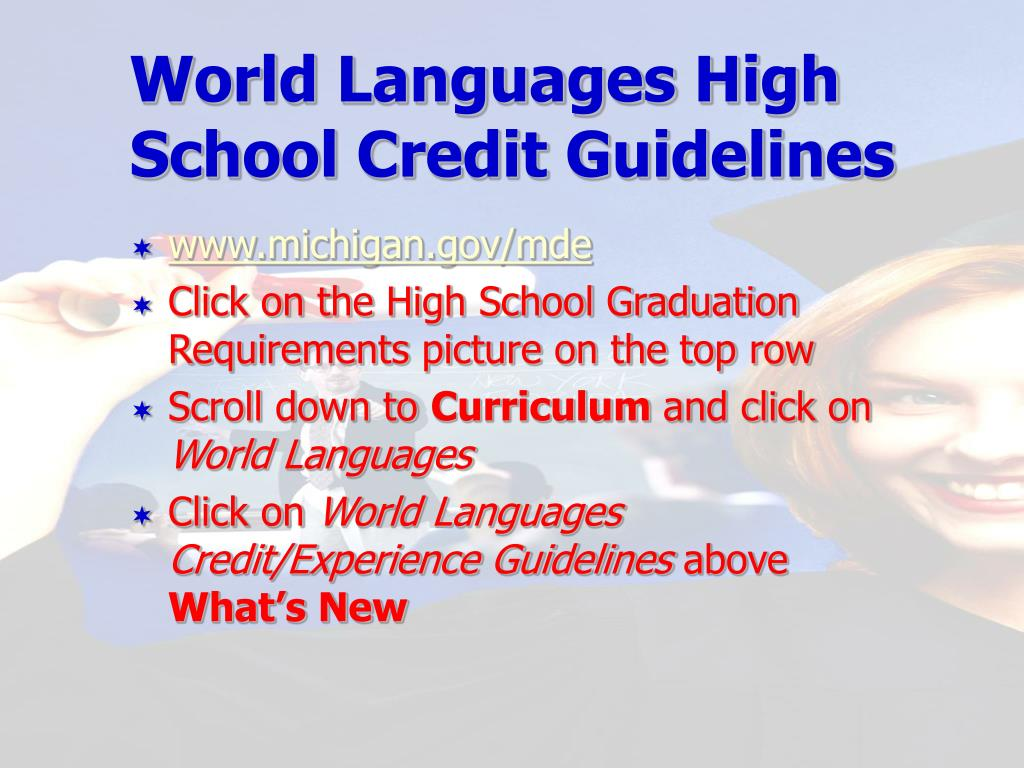 World Languages High School Credit Guidelines