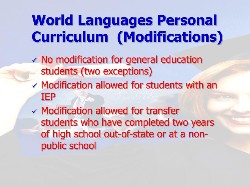 World Languages Personal Curriculum  (Modifications)