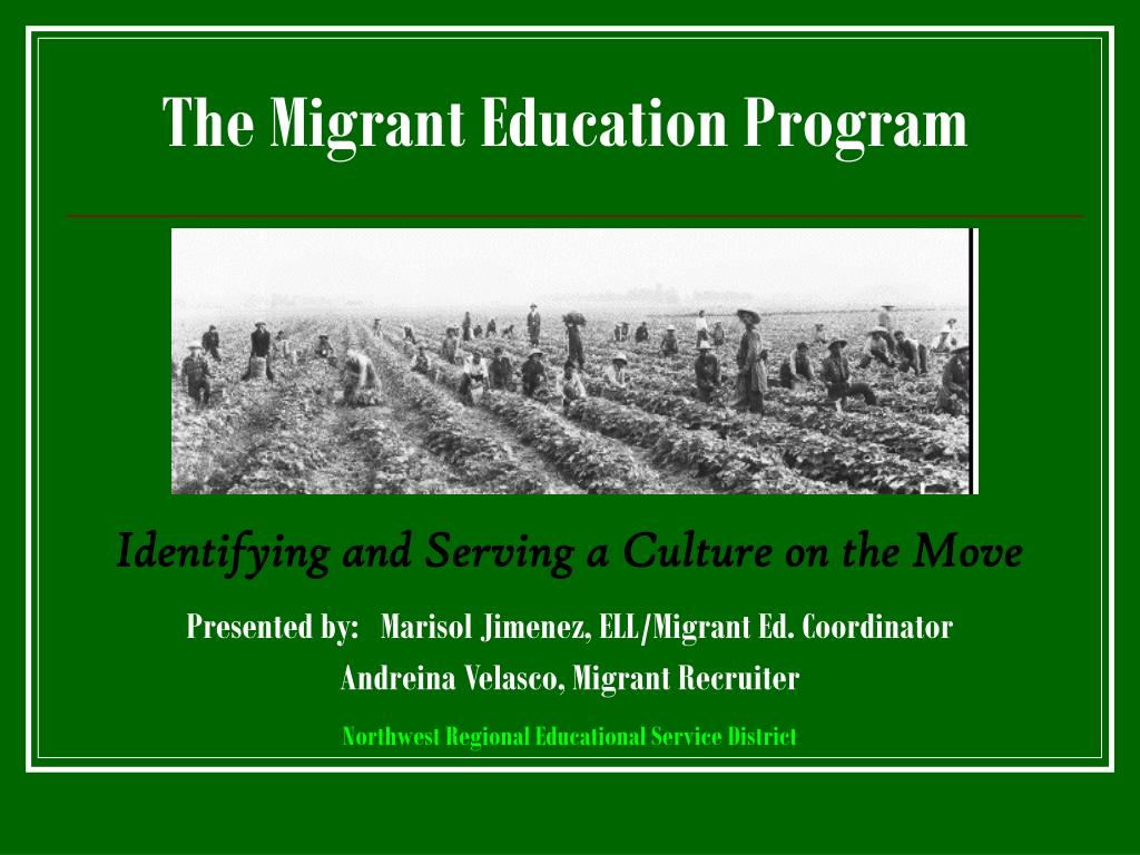 the migrant education program l.