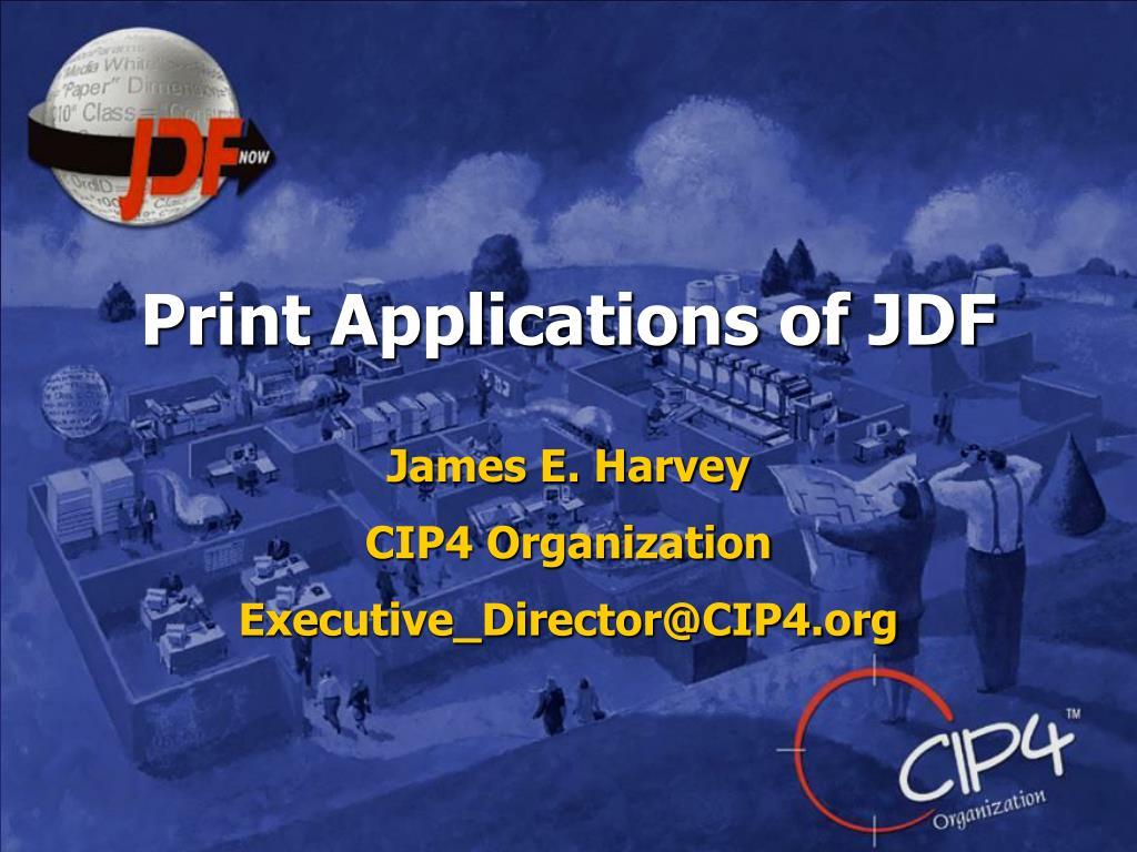 print applications of jdf