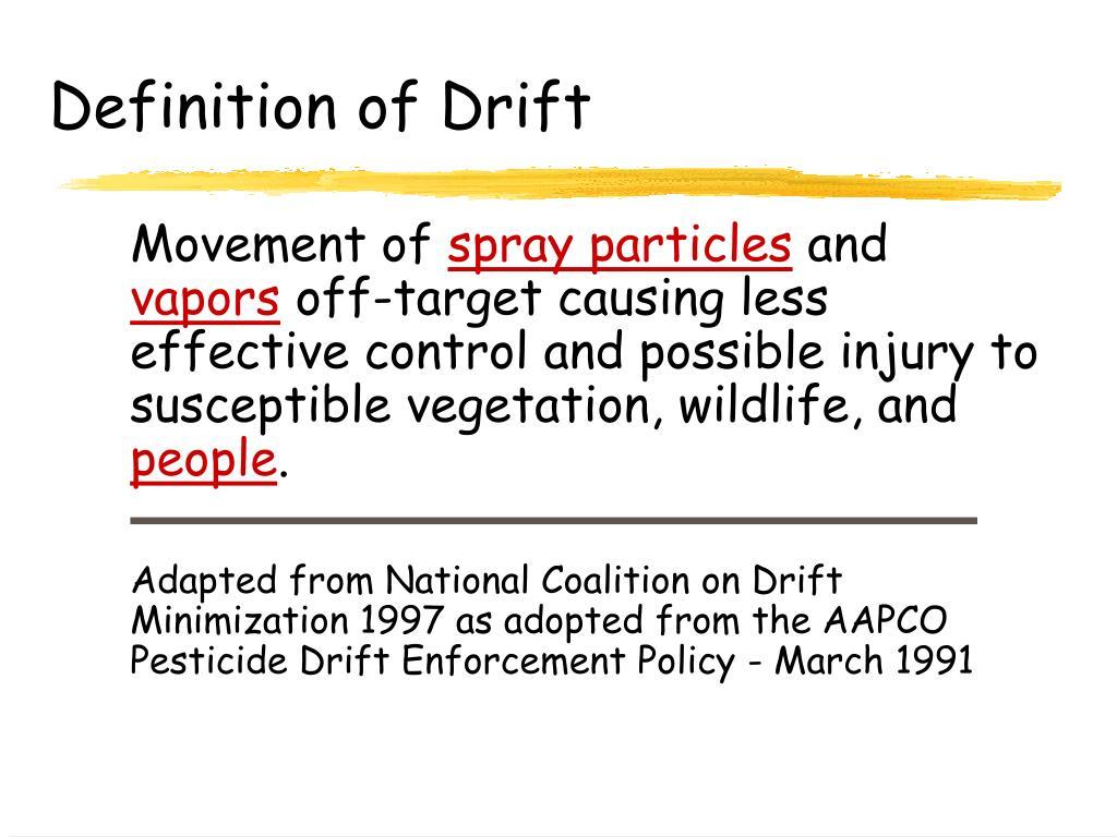 Definition of Drift