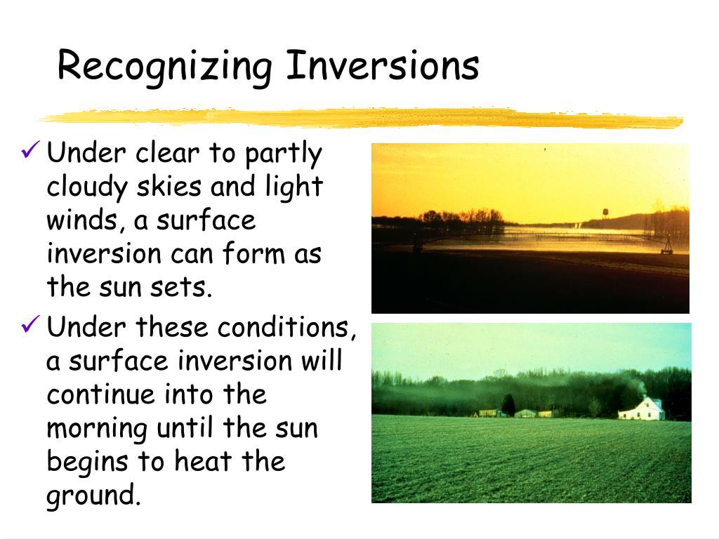 Recognizing Inversions