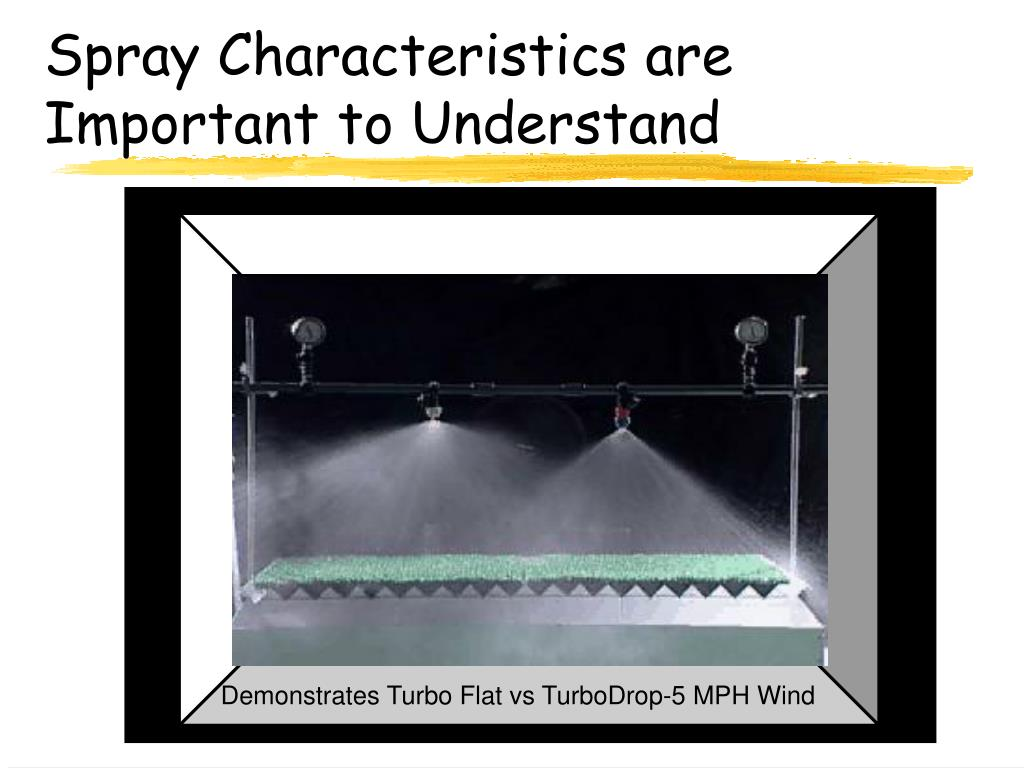 Spray Characteristics are Important to Understand