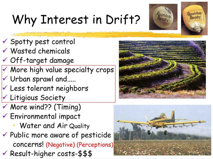 Why interest in drift