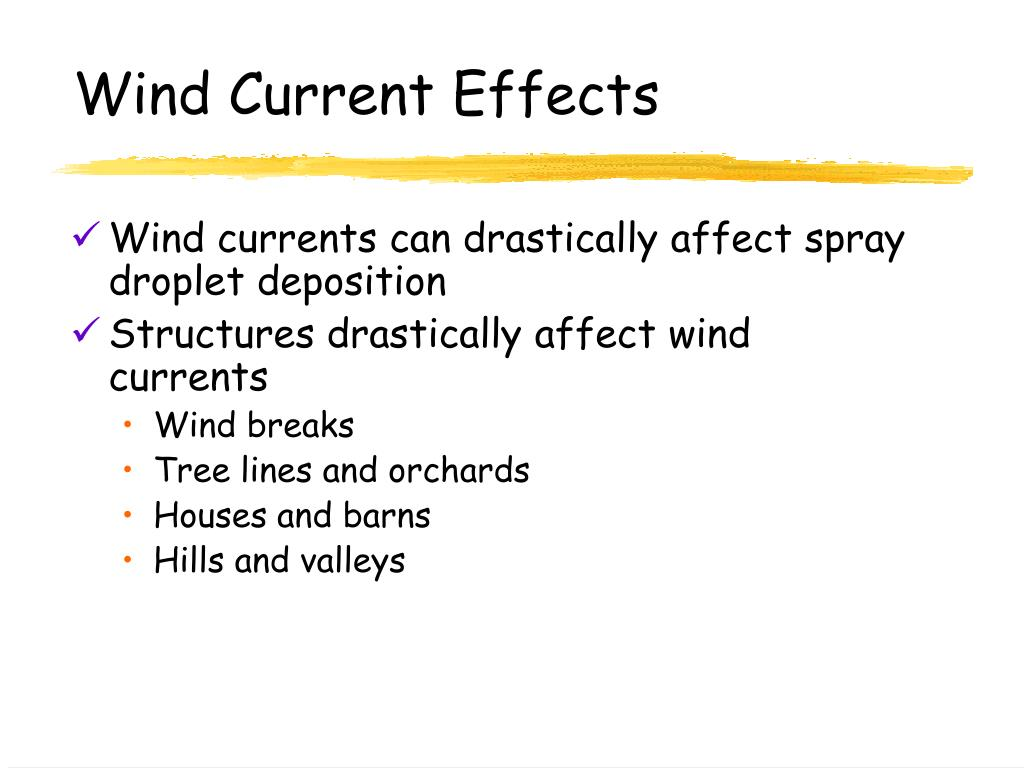 Wind Current Effects