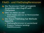 fileio und filedialogpermission
