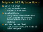 m gliche net updater how s